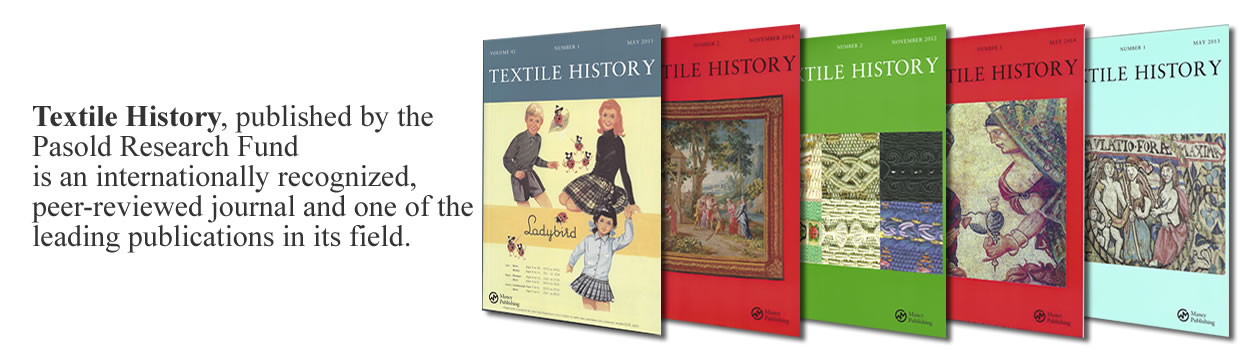 Textile History - publications from Pasold