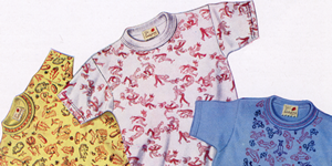 Picture from vintage Pasold catalogue with Ladybird t-shirts