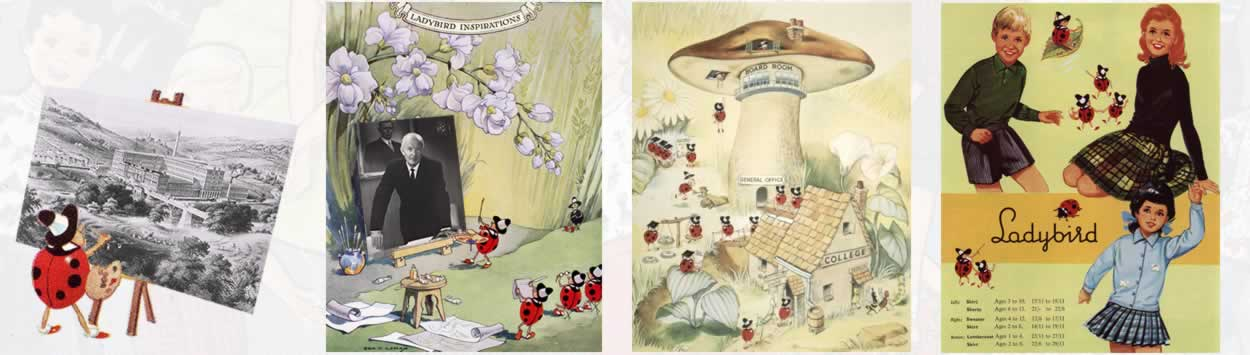 Examples of Pasold ladybird adverts.